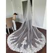 Kostelní ocas krajkový závoj nevěsta svatební závoj luxusní krajkový závoj