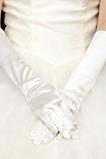Svatební rukavice plné prsty černé saténové elastické teplé slavnostní