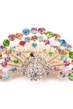 Retro Peacock Inlaid diamantové zlacené zvířecí brož