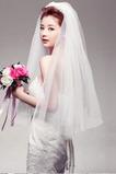 Svatební závoj Tiered krátký průhledný tajemný Glamour Spring
