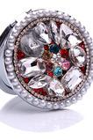 Luxusní kruh vložený diamant skládací kreslený ozdoba