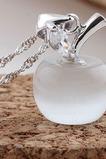 Apple Silver Cat oční kousek Módní plátování krátký náhrdelník