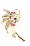 Inlaid diamant Leaf Nejvyšší stupeň Crystal Ženy Flowers Brož