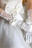 Svatební rukavice Pokoj podzimní Glamour Krajka Materiál Bow Tie