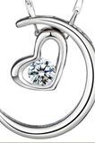 Stříbrné pokovování srdce ve tvaru dekorace Hot sale náhrdelník přívěsek