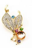 Velkoobchod Ženy Inlaid diamant Nový styl Crystal Pin brož