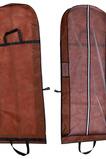 Hnědý přenosný prachový obal pro duální použití, který se skládá z velkého svatebního prachového krytu