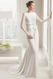 Zip nahoru Dlouhá Elegantní Dlouhý rukáv Přirozeného pasu Svatební šaty