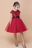 S diakritikou luk Flitry Přirozeného pasu Květinové dívky šaty