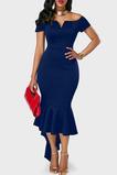 Asymetrické Přírodní pas Asymetrické Okouzlující Promové šaty