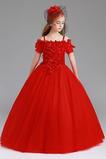 Přirozeného pasu Délka podlahy Formální Květinové dívky šaty