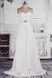 Bez ramínek Elegantní Zašněrovat boty Říše pasu Svatební šaty