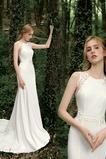 Bez rukávů Romantický Těsné Zahrada Výšivka Přírodní pas Svatební šaty