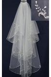 Svatební závoj Pearly White Perler Bílá jarní šortky Svatební šaty Bohyně