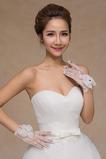 Svatební rukavice Perler Summer Shorts White Thin Decoration