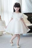 T-shirt rukáv Přikrýt Formální Krátký rukáv Květinové dívky šaty