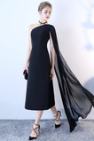 Přirozeného pasu Léto Čaj délka Bez rukávů A-Čára Večerní šaty