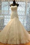 Bezzadu Podzim Mořská panna Klesl pas Klasický Svatební šaty