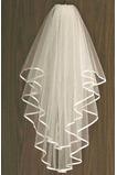 Svatební závoj s hřebenovým hedvábným dramatem