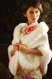 Elegantní zimní bílé tlusté křišťálové květy Brož obdélník svatební šál