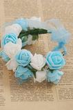 Bílá a světle modrá Sladká princezna dětský věnec kroužkem ruční kroužek