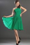 Jednoduchý Šifón houpačka Kolena délka Skládaný živůtek Promové šaty