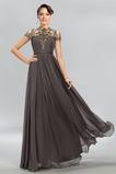 Elegantní Iluze Léto Rouška Šifón Vysoký límec Přírodní pas Večerní šaty