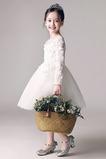 Klenot T-shirt rukáv Krajka Přirozeného pasu Střední Květinové šaty