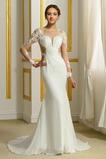 Zip Dvorní vlečka Mořská panna Bateau Střední Šifón Svatební šaty