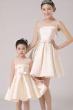 Klíčová dírka A-Čára Podzim Přirozeného pasu Květinové dívky šaty