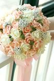 30 květina banda nevěsty drží šampaňské růže květina družička manželství