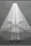 Chic S hřebenovými kleštěmi Velikost lze přizpůsobit Bílé svatební závoj