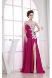 Asymetrický krk Délka podlahy Asymetrický rukávů Promové šaty