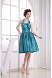Neformální Taft Bez rukávů Kolena délka S hlubokým výstřihem Promové šaty