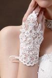 Svatební rukavice Čipka Fabric Dekorace Pearl Summer Mitten Short
