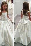 Formální Bez rukávů Léto Náměstí Střední Květinové dívky šaty
