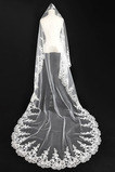 Svatební závoj na podzim Glamour Aplikujte svatební šaty bohyně