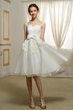 Krajka Bateau Léto Přírodní pas A-Čára Nášivky Svatební šaty