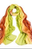Postříkejte barevný proužek květu, který prodlužuje šálu