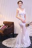 Bez rukávů Nášivky Banket Dlouho Léto V-krk Elegantní Promové šaty