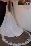 Svatební závoj tkanina krajka dlouhá s hřeben jarní pružina