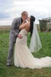 Svatební závoj krátký s hřebenem bílá dlouhá jar