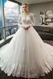 S hlubokým výstřihem Kostel Nášivky V-krk A-Čára Svatební šaty