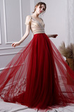 Víčko houpačka Tyl A-Čára Střední Délka podlahy Promové šaty