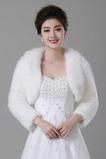 Tlustý Hall Jacket Dlouhý teplý bílý svatební šátek