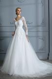 A-Čára Tyl Dvorní vlečka Iluze Zahrada Elegantní Svatební šaty