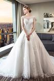A-Čára Bez rukávů Střední Tyl Bezzadu Formální Svatební šaty