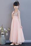Přírodní pas Šperk Míč Zip nahoru Elegantní Květinové dívky šaty
