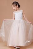 Krajka Krajkou Overlay A-Čára Klenot Střední Květ dívka šaty