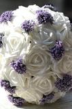 Bílé svatební kytice držení dárek Svatební kytice dárkové manuální simulace